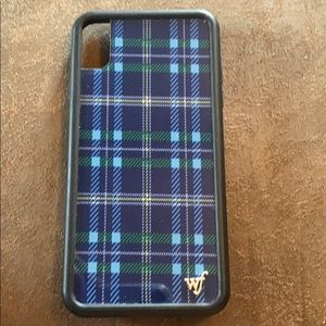 Wildflower IPhone XS Max Blue Plaid Case